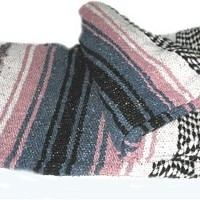 Authentic Large Thick Mexican Falsa Blanket Pink