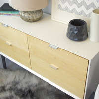 WFOUR Design XS Sideboard - Lacquer/Maple/Gloss Gray