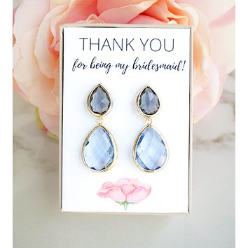 Thank You For Being My Bridesmaid Earrings