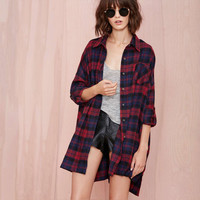 Lattice Plaid Collar Button Long Sleeve Loose Shirt