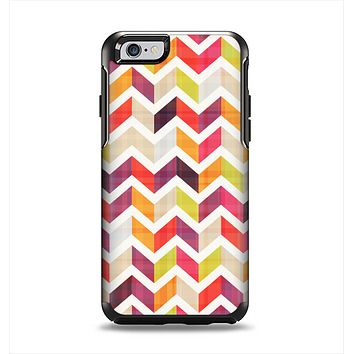 The Colorful Segmented Scratched ZigZag Apple iPhone 6 Otterbox Symmetry Case Skin Set