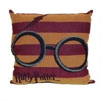 Harry Potter Glasses and Lightning Bolt Woven Tapestry Pillow | HarryPotterShop.com