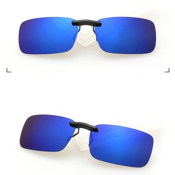 Unisex Polarized Clip On Sunglasses Driving Night Vision Lens Anti-UVA Anti-UVB Cycling Riding Pesca Equipment zonnebril clip