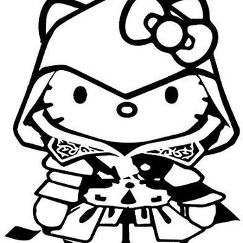 Assassins Creed Hello Kitty Xbox 360 One  Vinyl Car/Laptop/Window/Wall Decal