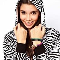 ASOS PETITE Exclusive Zebra Onesuit at asos.com