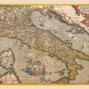 Map of Italy 20x30 poster