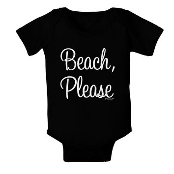 Beach Please Baby Bodysuit Dark