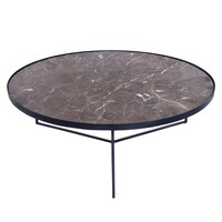 "Chandra 42"" Round Marble Coffee Table"