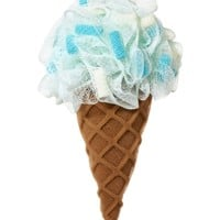 Shower Sponge Blue Ice Cream Cone Sponge