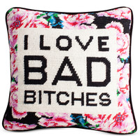Bad Bitches Needlepoint Pillow