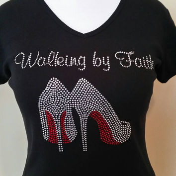 Walking by Faith T-shirt