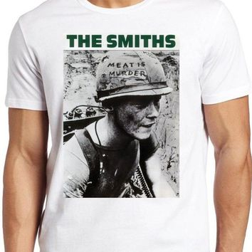 The Smiths T-shirt Meat Is Murder Alternative Rock Morrissey Top Tee Shirts Swag Tumblr Fashion T Shirt For Men Women White