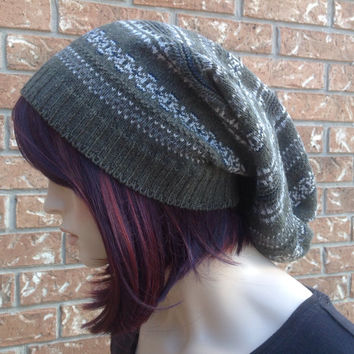 Slouchy beanie, sweater tam, hipster, unisex, warm, cozy, handmade sweater beanie, slouch hat, women's accessories