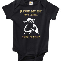 Baby Bodysuit - Star Wars Judge Me By My Size Do You