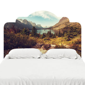 Scenic Glacier National Park Headboard Decal