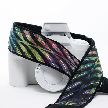 Camera Strap, dSLR, Batik Stripe, Replacement Strap, SLR, Mirrorless, Camera Neck Strap, Canon strap, Nikon Strap, Tie Dye,  240