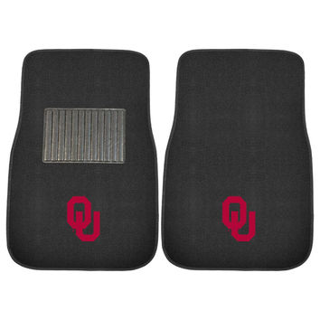 Oklahoma Sooners NCAA 2-pc Embroidered Car Mat Set
