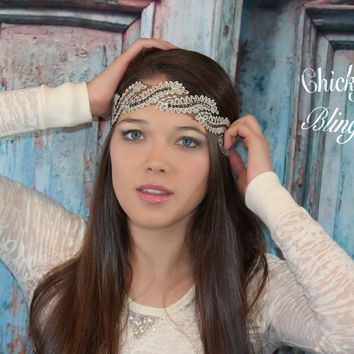 Bohemian Luxurious Leaf Lace Headband