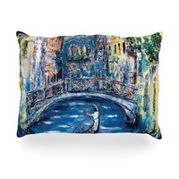 "Josh Serafin ""Venice"" Travel Italy Oblong Pillow"