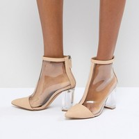 Missguided Clear Heeled Ankle Boot at asos.com