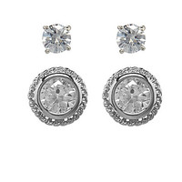 Dillard's Boxed Collection Round Duo Stud Earrings