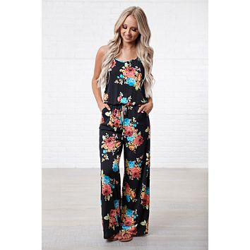 Back To Reality Floral Jumpsuit (Bright Floral)