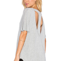 Nation LTD Leah T Back Tee in Heather Grey