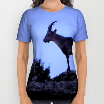The mountain goat (Lo Salvatge) All Over Print Shirt by  it´s Ephemeral
