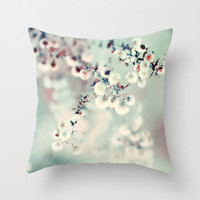 Pillow Cover,  Photo PIllow, Icy Mint Green Color, Nature Photograph, Spring Decor, Living Room, Bedroom, 16x16, 18x18