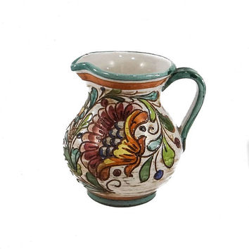 Vintage Deruta Majolica Pitcher from Italy
