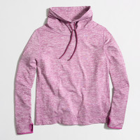Factory heathered tunnelneck pullover sweatshirt