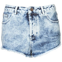 MOTO Acid Wash Denim Hotpants