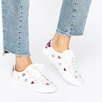 ASOS DEA Star Lace Up Trainers at asos.com