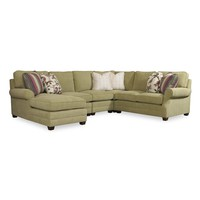 Riley Transitional Four Piece Sectional Sofa with RAF Chaise by Sam Moore at Baer's Furniture