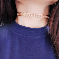 Fashion Hollow Gold Silver Metal False Collar Chokers Necklaces