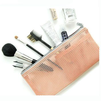 New Makeup Cosmetic Toiletry Travel Wash Organizer Bag Toothbrush Pouch Mesh Bag