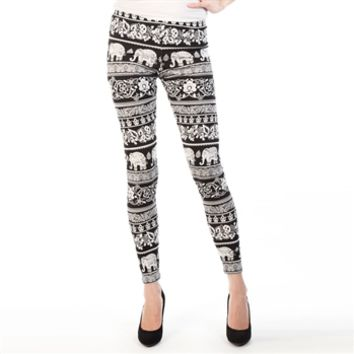 Angie Juniors Elephant Print Leggings at Von Maur