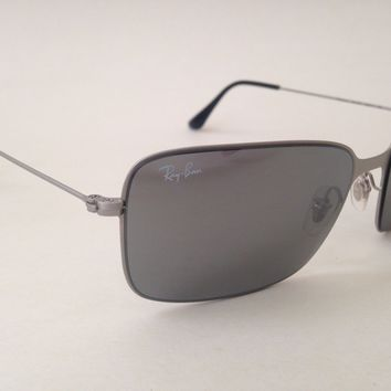 Ray-Ban Highstreet Navigator Sunglasses New Wire Rectangle Gold Silver rb3514
