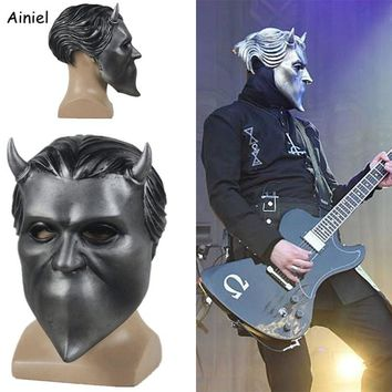Adult Ghost Bc Band Nameless Ghoul Latex Mask Cosplay Costume Funny Scary Full Face Masks Prop Halloween Party for Men Women
