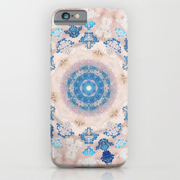 Cream Rose Mandala iPhone & iPod Case by festivaloflife