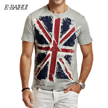 E-BAIHUI Brand  summer style Cotton men Clothing Male Slim Fit t shirt Man T-shirts Casual T-Shirts  Swag mens tops tees Y001