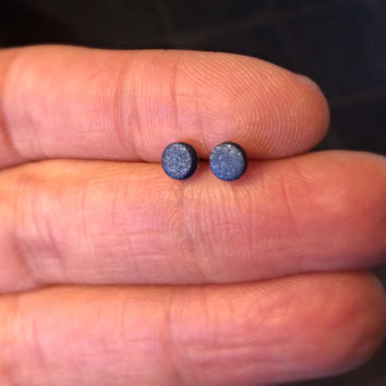 4mm Tiny Navy Blue Studs Unisex Small Post Studs