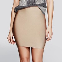 Mei High-Rise Bandage Skirt at Guess