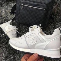 LV Shoes Louis Vuitton LV Lady Fashion Run Away Sneaker Shoes