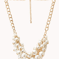 Opulent Faux Pearl Necklace