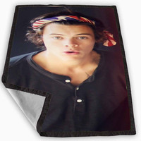 One Direction Harry Styles Bandana Blanket for Kids Blanket, Fleece Blanket Cute and Awesome Blanket for your bedding, Blanket fleece *