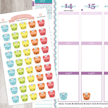 45 Scales Weightloss Journey Stickers Sheet |  Erin Condren Planner / Plum Paper Planner / Filofax / Kikki K / Planner