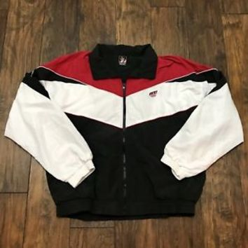 Vintage 1990s 90s USA Olympics Red / White / Black Windbreaker Jacket Mens Sz XL