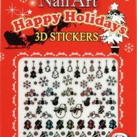 HAPPY HOLIDAYS NAIL DECAL NSB-11-MB