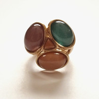 Mixed Stones Stretch Ring from Lemon Drop Boutique